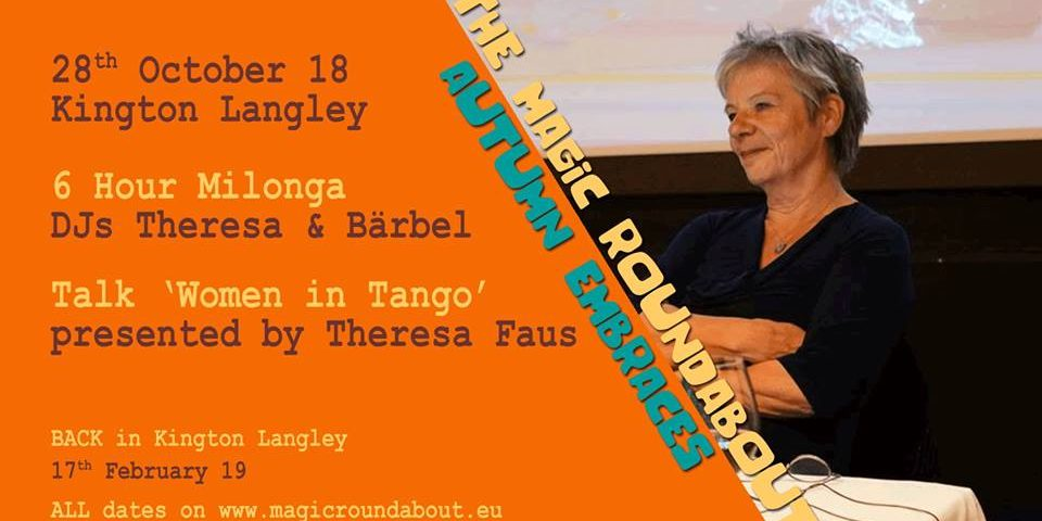 Magic Roundabout Flyer with Theresa Faus 28th October 2018.