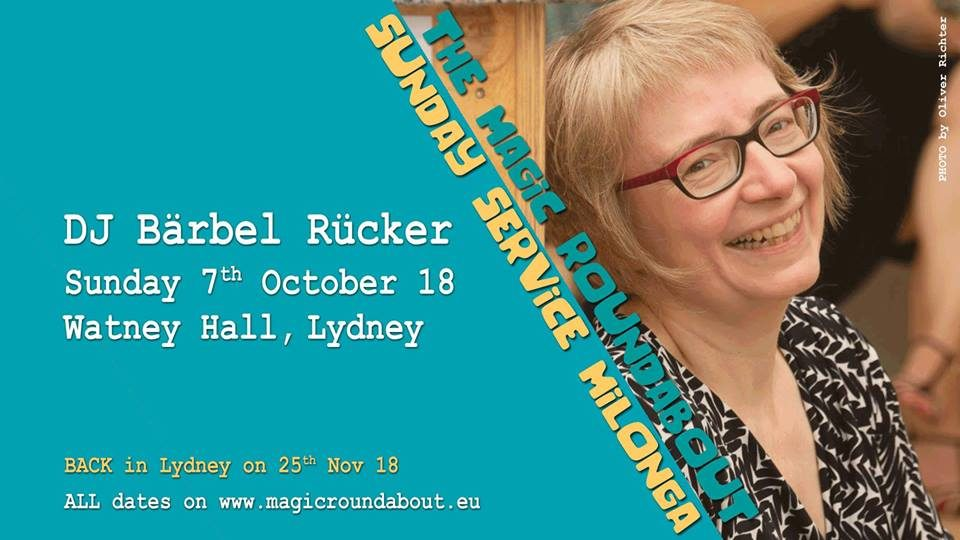 Sunday Service Flyer with Baerbel Ruecker 7th October 2018.