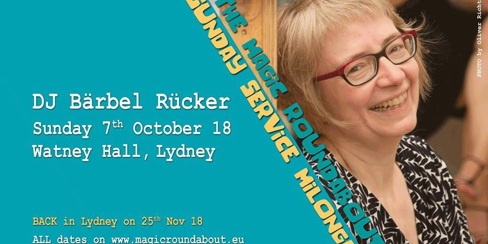 Sunday Service Flyer with Baerbel Ruecker 7th October 2018.